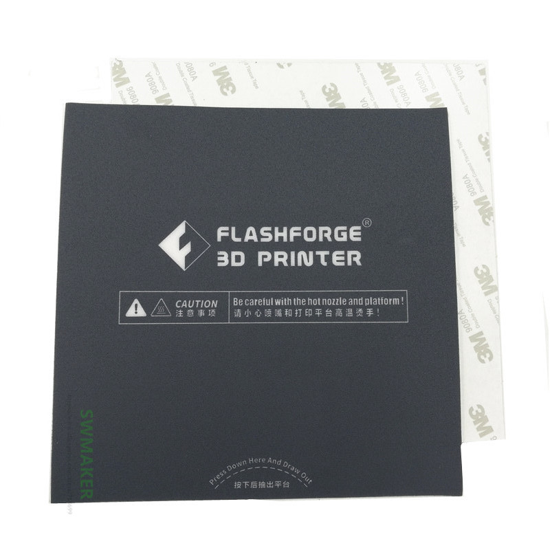 2pcs Flashforge Adventurer 3 3D Printer Dark Grey Heated Bed Tape Print Sticker Build Plate Tape
