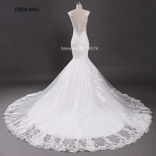 EBDOING Real Photo Wedding Dress 2017 V-neck Neckline