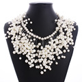 Luxury Pearl Chain Choker Necklace Women Bohemia Simulated Pearl Necklace Fashion Choker Jewelry  CJY