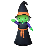 120CM 4FT Wizard Ghost Inflatable Toys Witch LED Lighted Home Yard Outdoor Decoration Christmas Easter Halloween Party Props