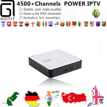 GOTiT Indian IPTV GT2017 Android DVB-S2 IPTV Box with 4500+Power Arabic Pakistan Turkish Sports Adult IPTV channels Smart TV Box(China)
