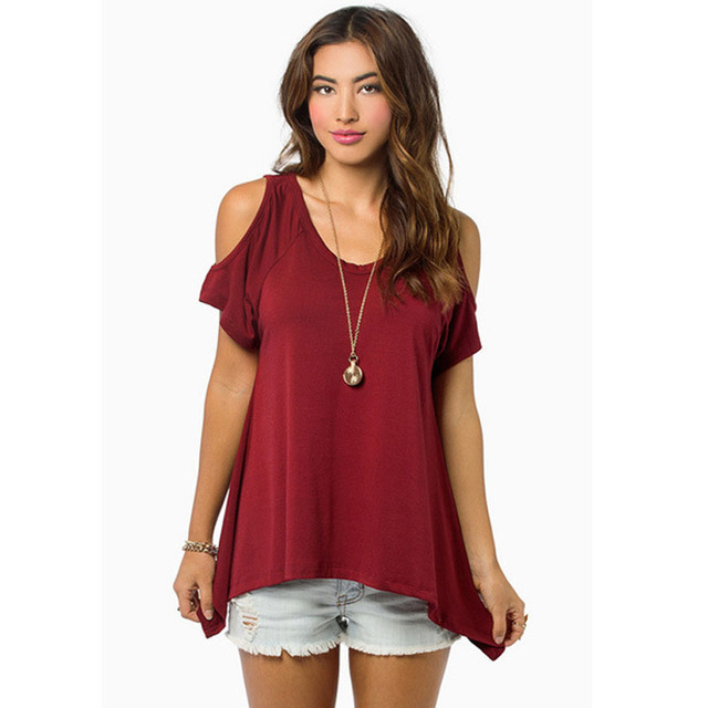 reputable site 02d1e 77e05 US $4.4 9% OFF|Marke kleidung china Bekleidung 2016 mädchen weiße bluse  Frauen tops striped blusas schulterfrei damen bluse shirt Sexy sommer in ...