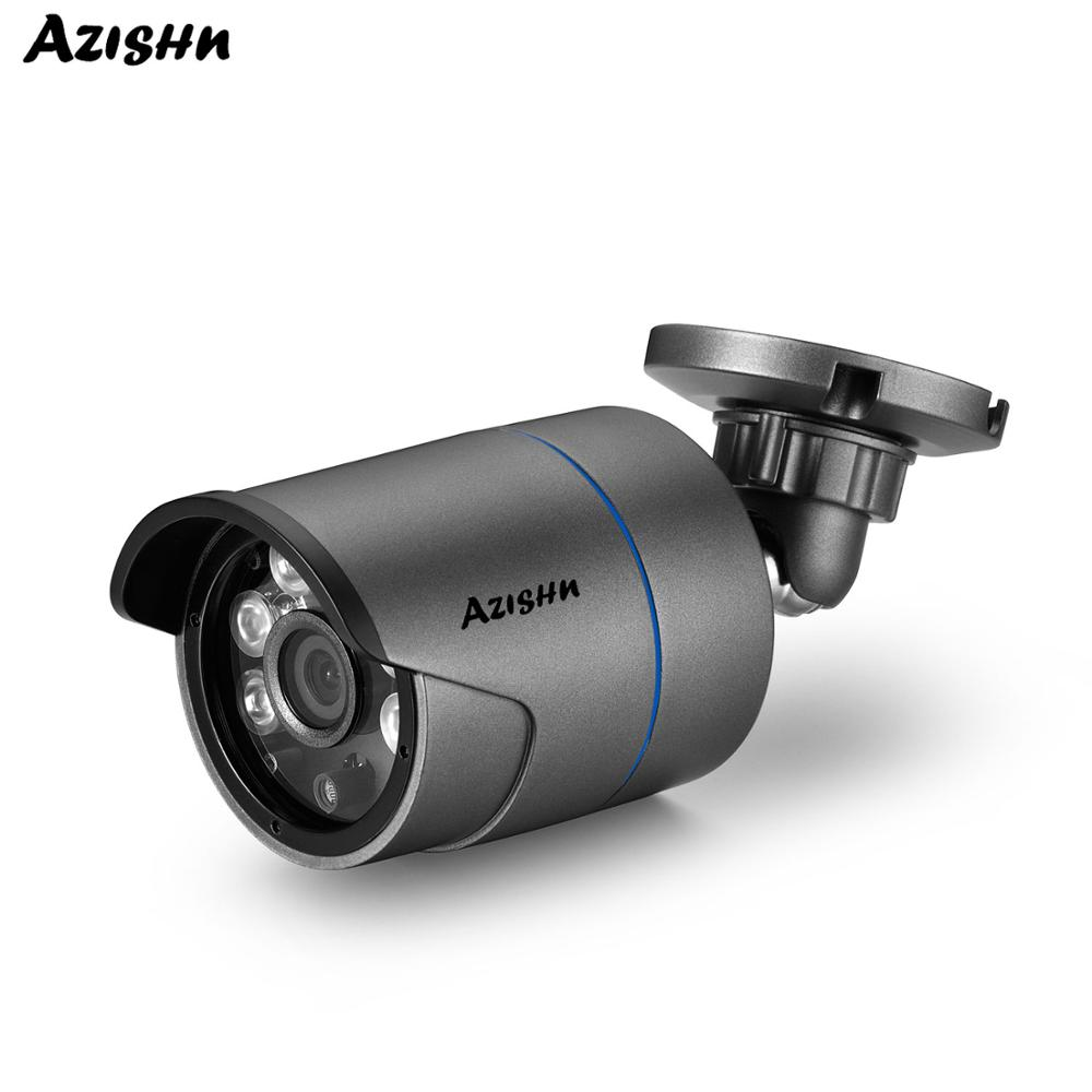 AZISHN 5MP POE IP Camera H.265 SONY IMX335 Sensor Outdoor Waterproof Cam Motion Dectection ONVIF DC12V/48V POE Module Optional