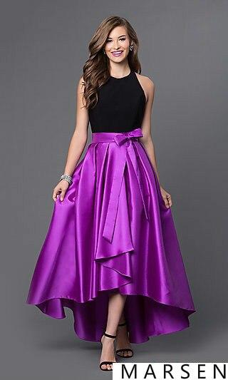 High Low Backless Long Prom font b Dress b font 2016 Fashion Asymmetrical Off Shoulder Plus