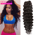 7A Peruvian Deep Wave Virgin Hair 3 Bundles Wet And Wavy Human Hair Weave Peruvian Deep Curly Hair Weaves Luxy Hair Company