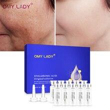 OMY LADY, 10 шт., гиалуроновая кислота, раствор, сыворотка для лица, Антивозрастная, глубокое увлажнение, против морщин, уход за кожей, эссенция для лица