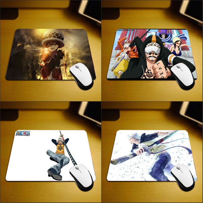 Mairuige Heart Pirate Group Captain Trafalgar Law Mousepad Onepiece Comic Anime Mini Pc Table Mats for Onepiece Fans Game Player
