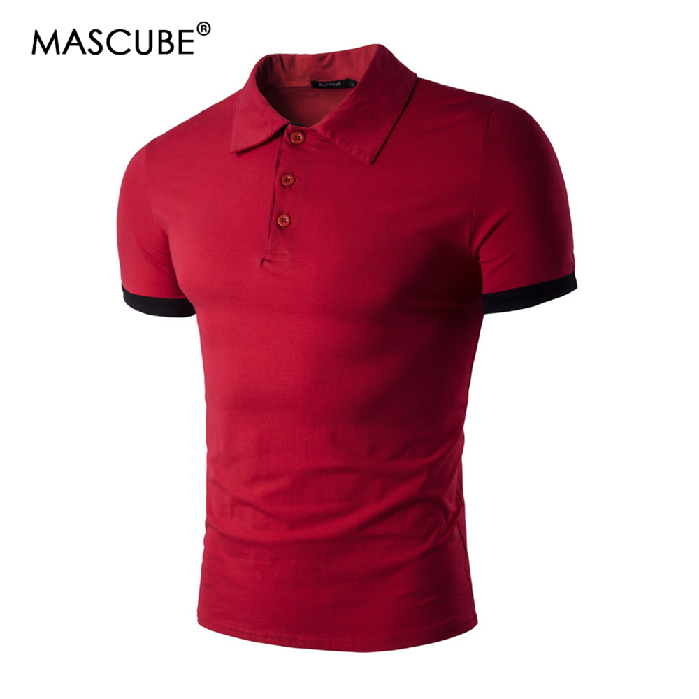 Mutter & Kinder Mascube Männer Polo Shirt Herren Einfarbig Polo Shirts Männer Business & Casual Baumwolle Polo-shirt Kurzarm Atmungs Polo Hemd Reines Und Mildes Aroma
