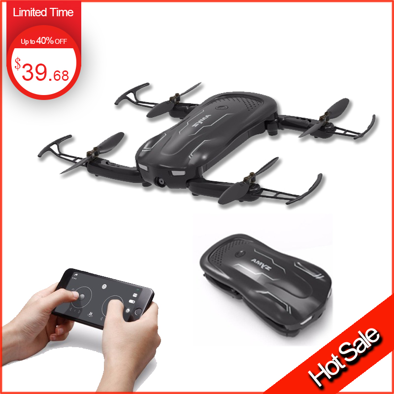 Syma z1 mini Pocket Drone with Camera Altitude Hold Selfie Follow me Mode WiFi FPV Quadcopter Dron RC Helicopter VS H62 E58 все цены