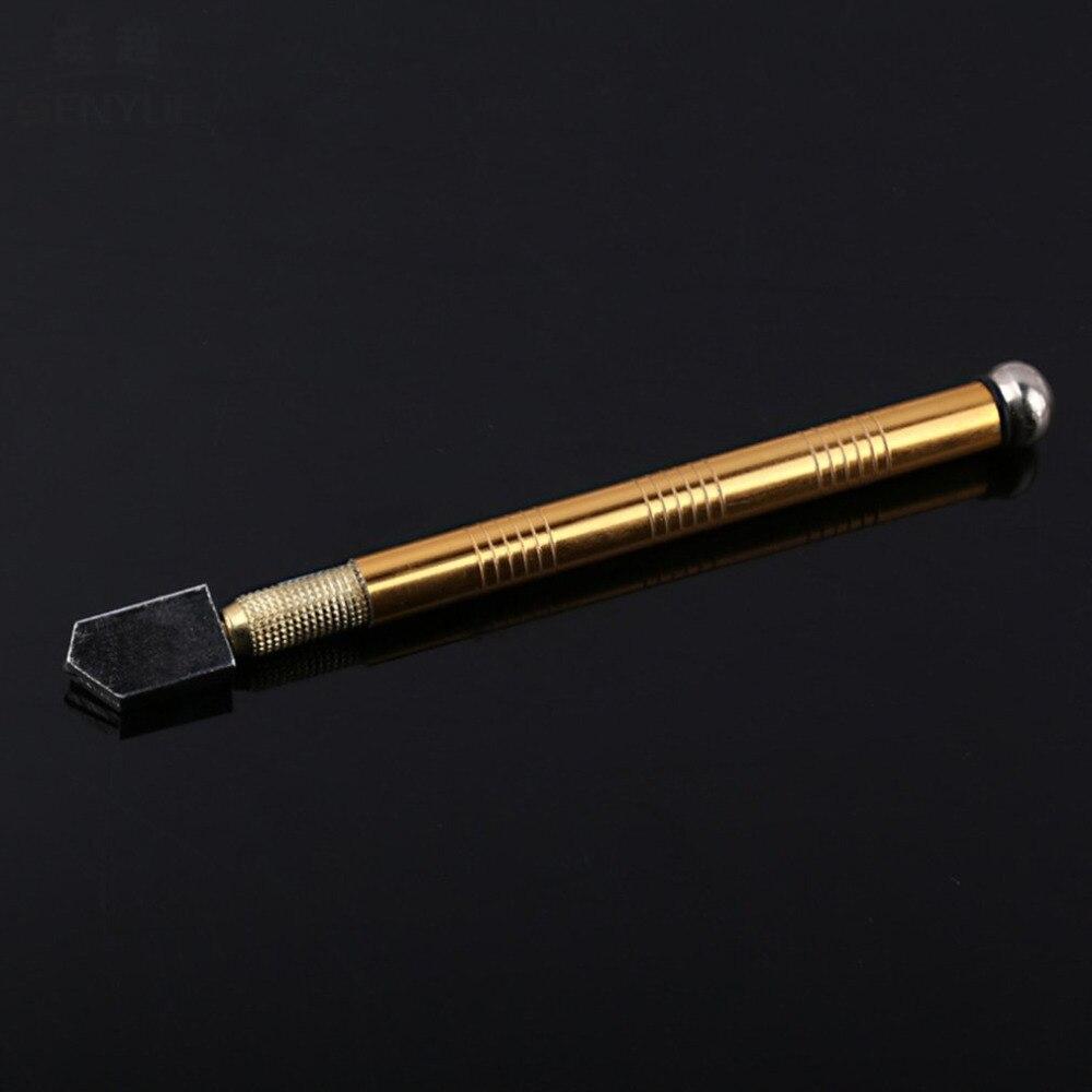 Poignée en métal professionnel en acier verre strass auto-lubrifiant huile alimentation coupe-verre à pointe coupe artisanat vitrage outil
