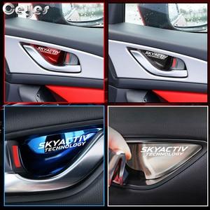 Image 5 - Ceyes Car Chrome Styling Accessories Door Handle Wrist Bowl Trim Sticker Case For Mazda Skyactiv Technology CX 5 CX5 CX3 6 Axela