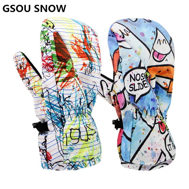 68b6cde57a2 New winter ski gloves kids snowboard gloves girl and boy waterproof  fingerless warm waterproof gloves for