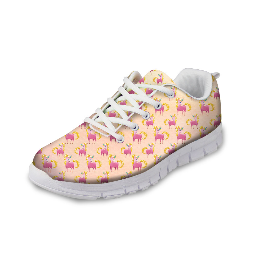 Running Unicorn Womens Casual Sneaker Lace Up Shoe