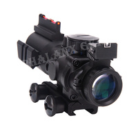 Tactical 4x32 RGB Reticle Tri Illuminated Compact Scope+Red Fiber Optics Sight Etched Glass Tactical New Quality Riflescopes