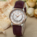 Brand Simple Fashion Women Business Dress Watches Water Resistant Real Leather Automatic Wrist watch Self Wind Calendar NW7191