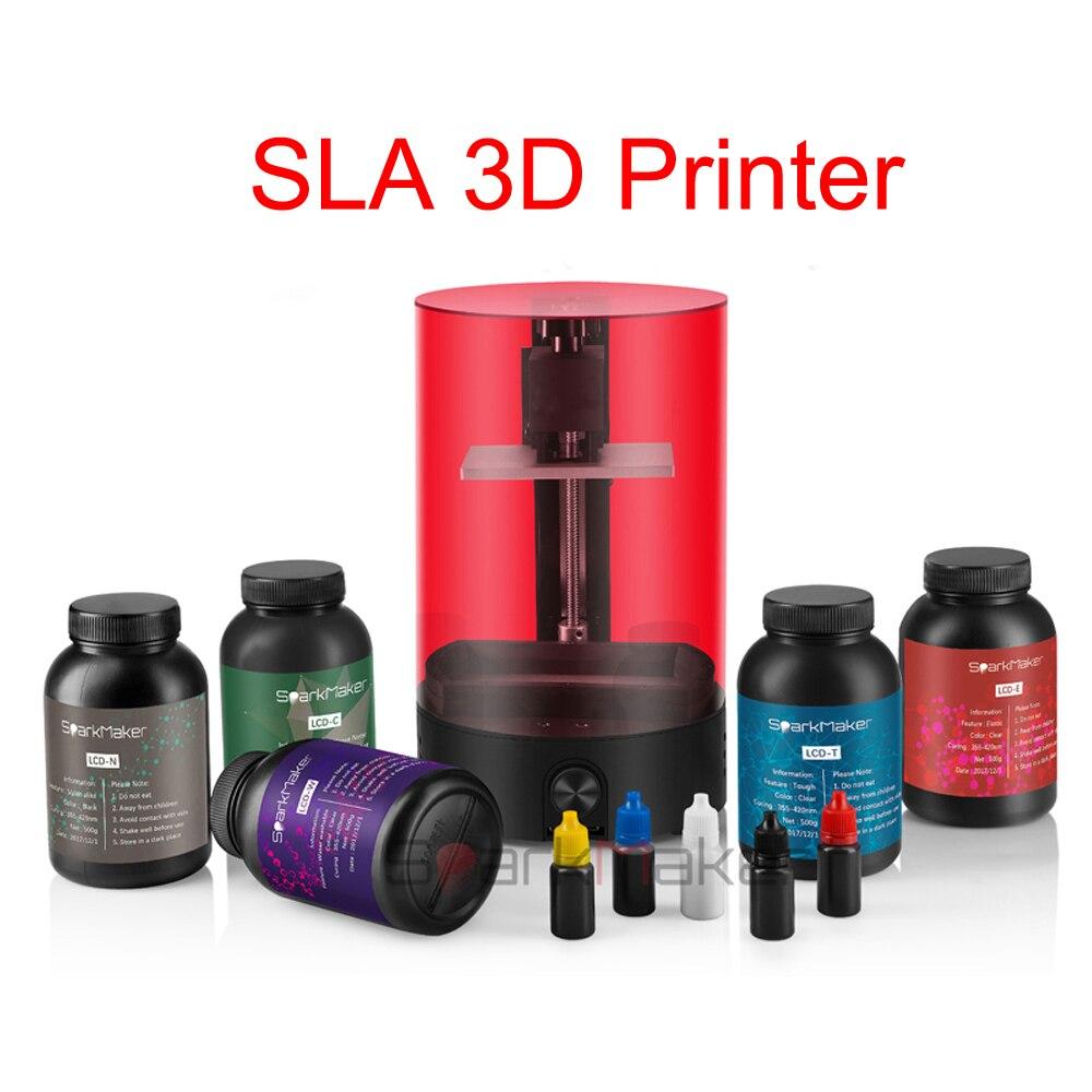 Sparkmaker UV Photopolymérisation SLA 3d imprimante DLP/LCD Impresora premier niveau débutant imprimante pk photon anet a6 a8 prusa i3