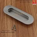 Barato moderno mobiliário de design forma elíptica Flush Puxar Puxador de Gaveta punho