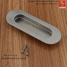 cheap modern design furniture elliptical shape Flush Pull Handle Drawer handle