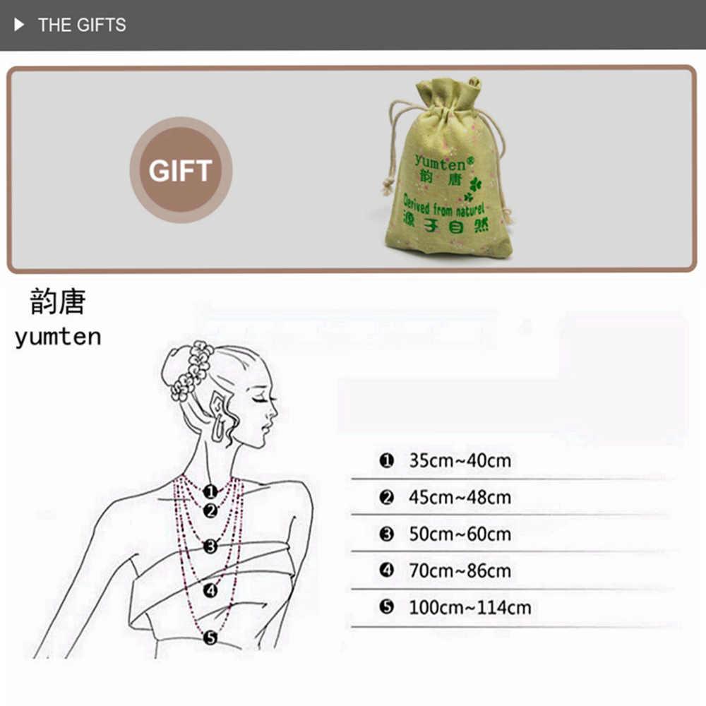 Yumten Topaz naszyjnik z kamieniem naturalnym dla kobiet liść wisiorek mężczyźni Choker kwiat piękna biżuteria joga Anime w stylu Vintage Kolye Choker Korea