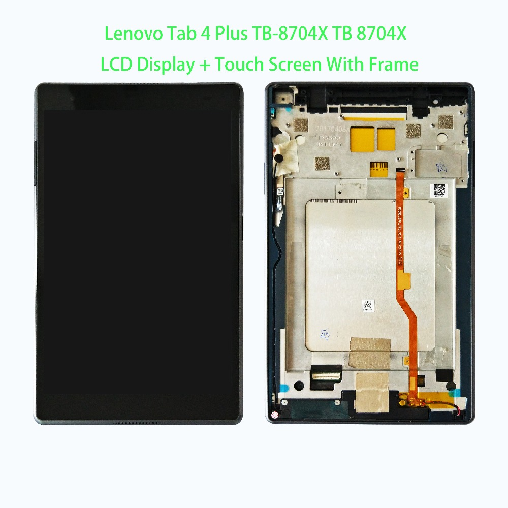 New 8 inch For Lenovo Tab 4 Plus TB-8704F TB-8704N TB-8704 LCD Display + Touch Screen Digitizer Glass Full Assembly Tablet PC крышка для винилового проигрывателя pro ject cover it rpm 9 9 1