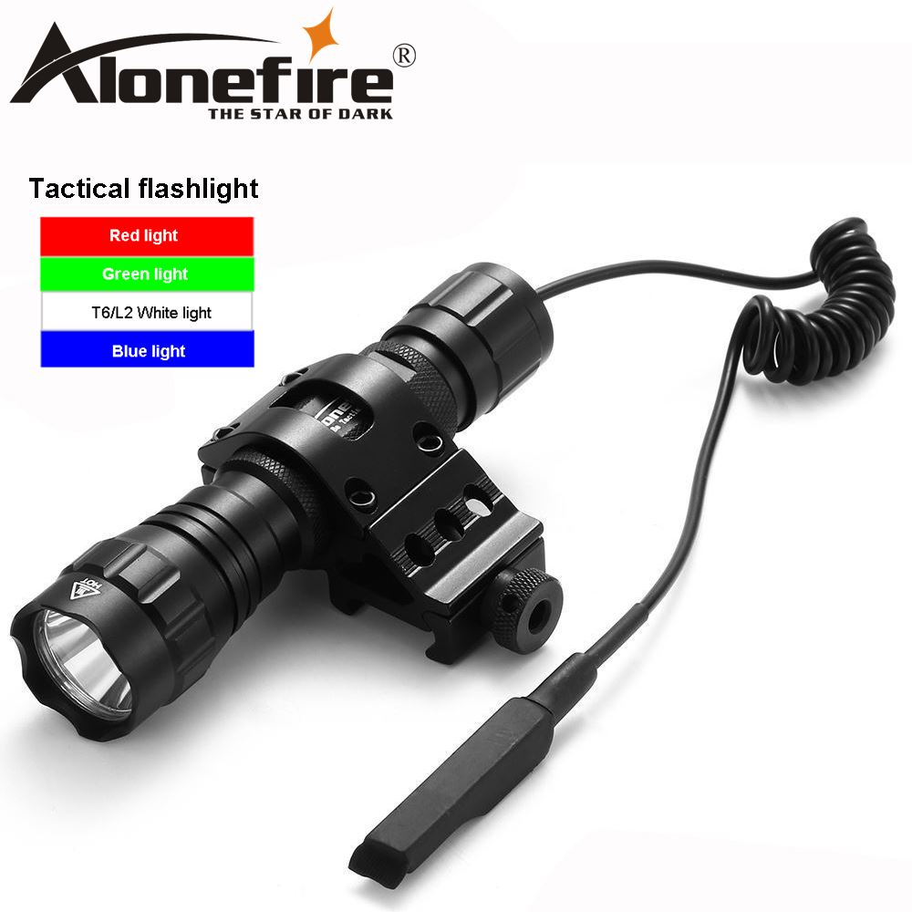 AloneFire 501Bs CREE XM-L T6 L2 LED Tactical Flashlight 501B Torch+Pressure Switch+Mount Hunting RifleAloneFire 501Bs CREE XM-L T6 L2 LED Tactical Flashlight 501B Torch+Pressure Switch+Mount Hunting Rifle