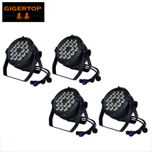 TIPTOP 18x18W RGBWY UV 6IN1 Led Par Light Waterproof Double Separate Level Case Design Outdoor IP65 Sound Activate 180W