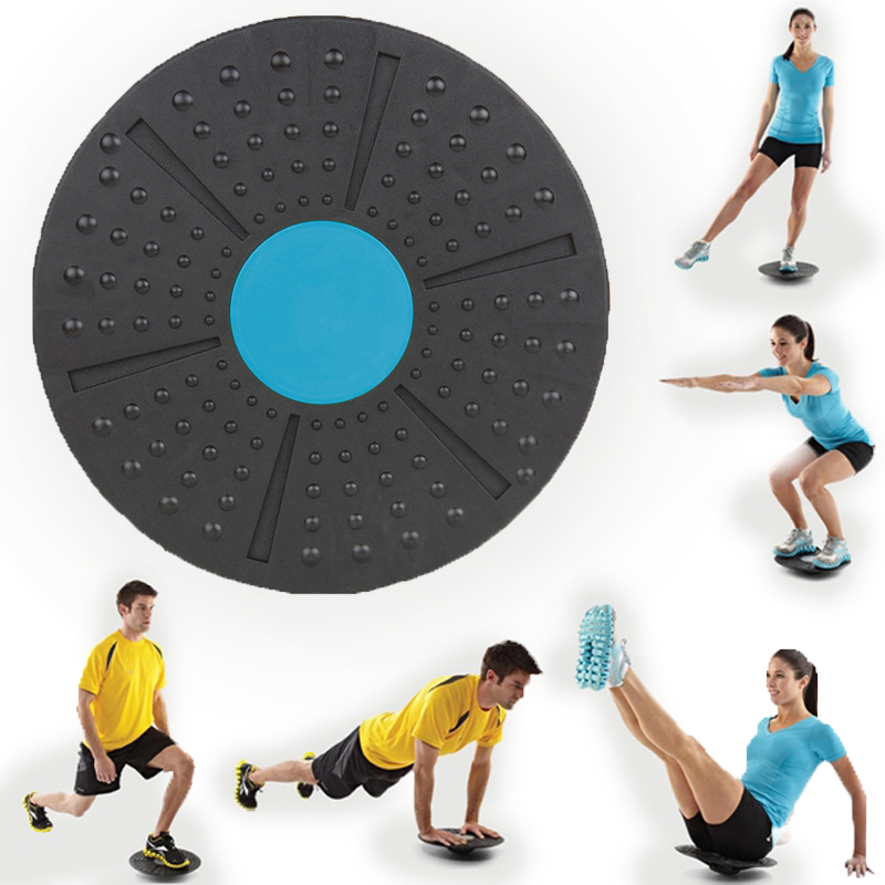 Yoga Balance Board Fitness 360 Degree Fitness Rotation Massage Stability Disc Round Plates Board Gym Waist Twisting Exerciser