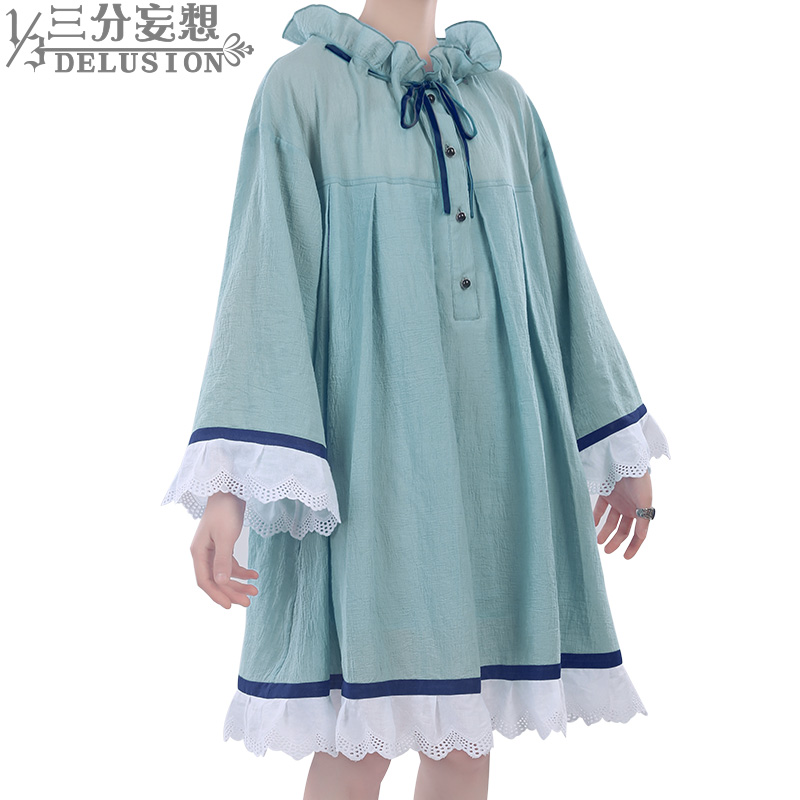 1/3 Delusion Black Butler Ciel Phantomhive cosplay Blue pajamas Loose nightdress cosplay costumes