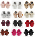 Baby Moccasin  Baby Kids Casual PU Moccasins Prewalker Anti-Slip Walkers Girl Bowknots Shoes 0-18M