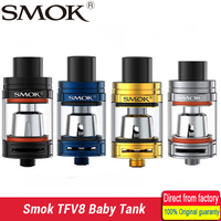 100 Original Smok TFV8 Baby Tank 3ml Top Filling Adjustable Airflow Beast Atomizer The Baby