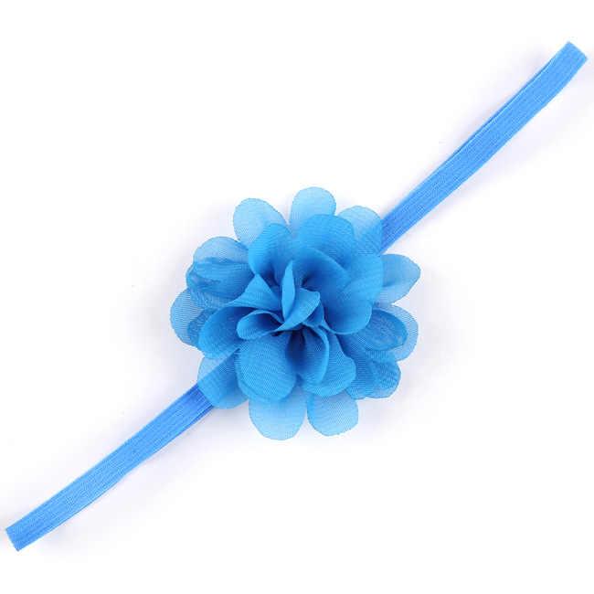 1 חתיכה מאיה סטפן ילדי כיסוי ראש שיפון פרח גומייה לשיער תינוק יילוד בנות שיער חבל סרט כיסוי ראש Headwear