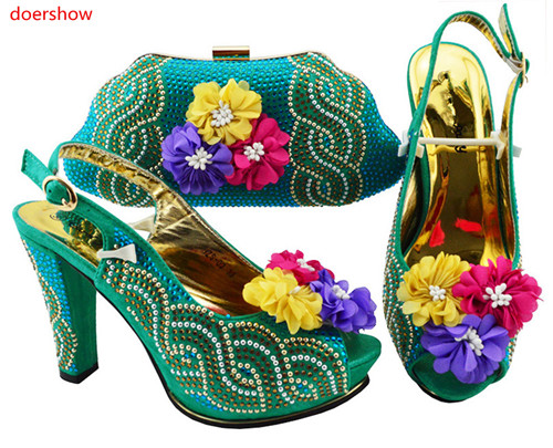 doershow wonderful Shoes and Bag To Matching African Shoes and Bag Set For Party Nigerian Women Fashion Shoes and Bag SJZS1-4doershow wonderful Shoes and Bag To Matching African Shoes and Bag Set For Party Nigerian Women Fashion Shoes and Bag SJZS1-4