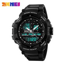 2016 New Brand SKMEI Fashion Sport Watch Men Electronic Digital Analog Silicone Watch Waterproof Wristwatches for Mens