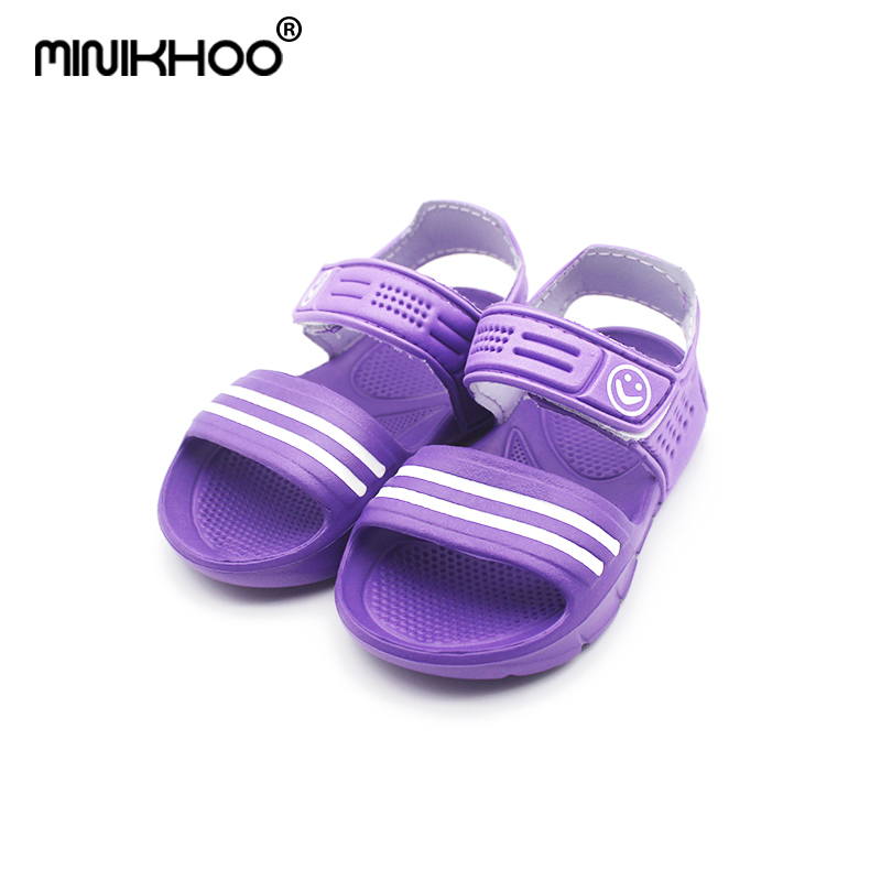 Mini Melissa Smile Girls Boys Sport Sandals 2018 Summer Baby Sandals Beach Sandals Anti-skid Melissa EVA Sandals 14cm-16.5cm