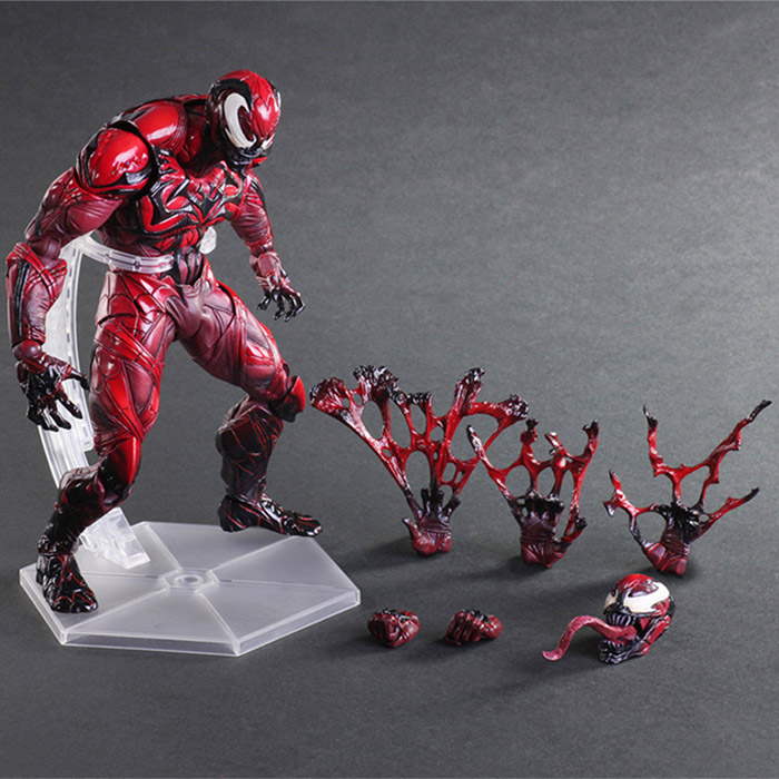Free Shipping 9 PA KAI Spiderman Venom Red Ver. Marvel Universe Variant Boxed 23cm PVC Action Figure Collection Model Doll Toy free shipping 6 comics dc superhero shfiguarts batman injustice ver boxed 16cm pvc action figure collection model doll toy