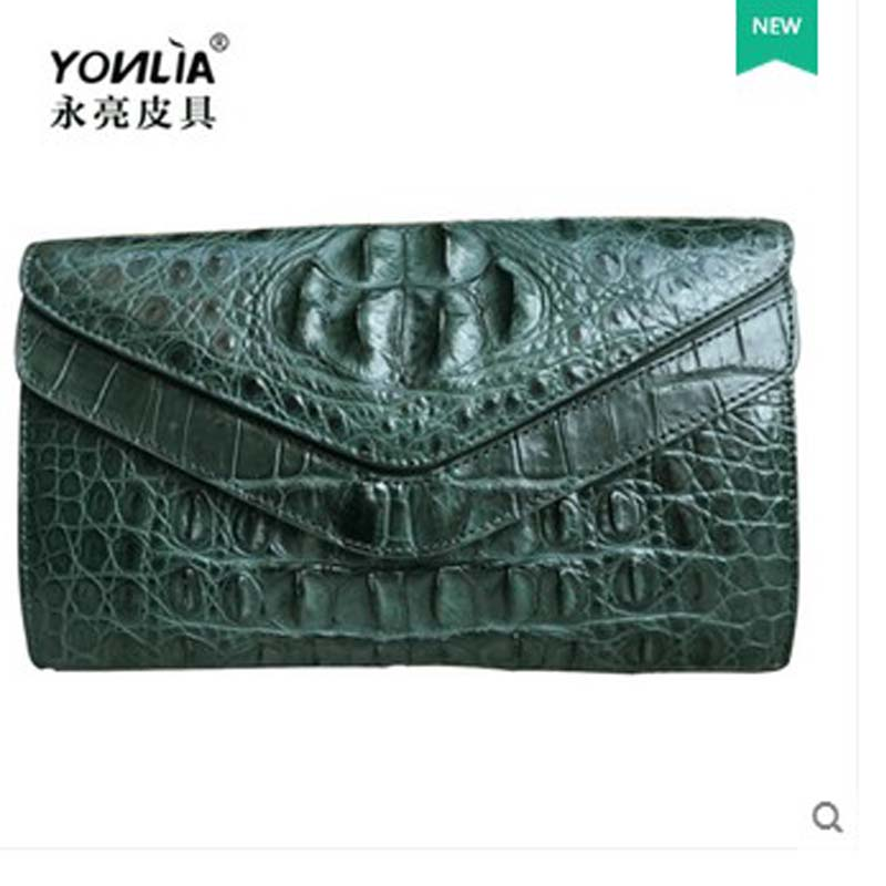 yongliang New crocodile leather men women clutch bag package envelope bag single shoulder men women bag Messenger bag prius brand men s casual package high end fashion 2017 new men s package shoulder bag men messenger bag shoulder bag