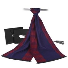 Fashion Tartan Scarf Men Luxury Brand Cashmere Scarf Winter Thick Foulard Homme YJWD751