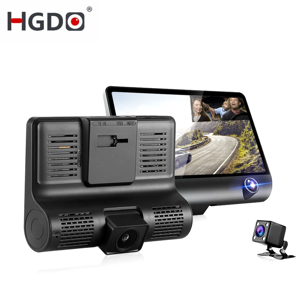HGDO Car DVR Rearview-Camera Video-Recorder Dash-Cam Auto-Registrator-Dvrs Dual-Lens