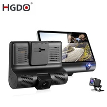 HGDO Car DVR 3 Cameras Lens 4.0 Inch Dash Camera Dual With Rearview Video Recorder Auto Registrator Dvrs Cam