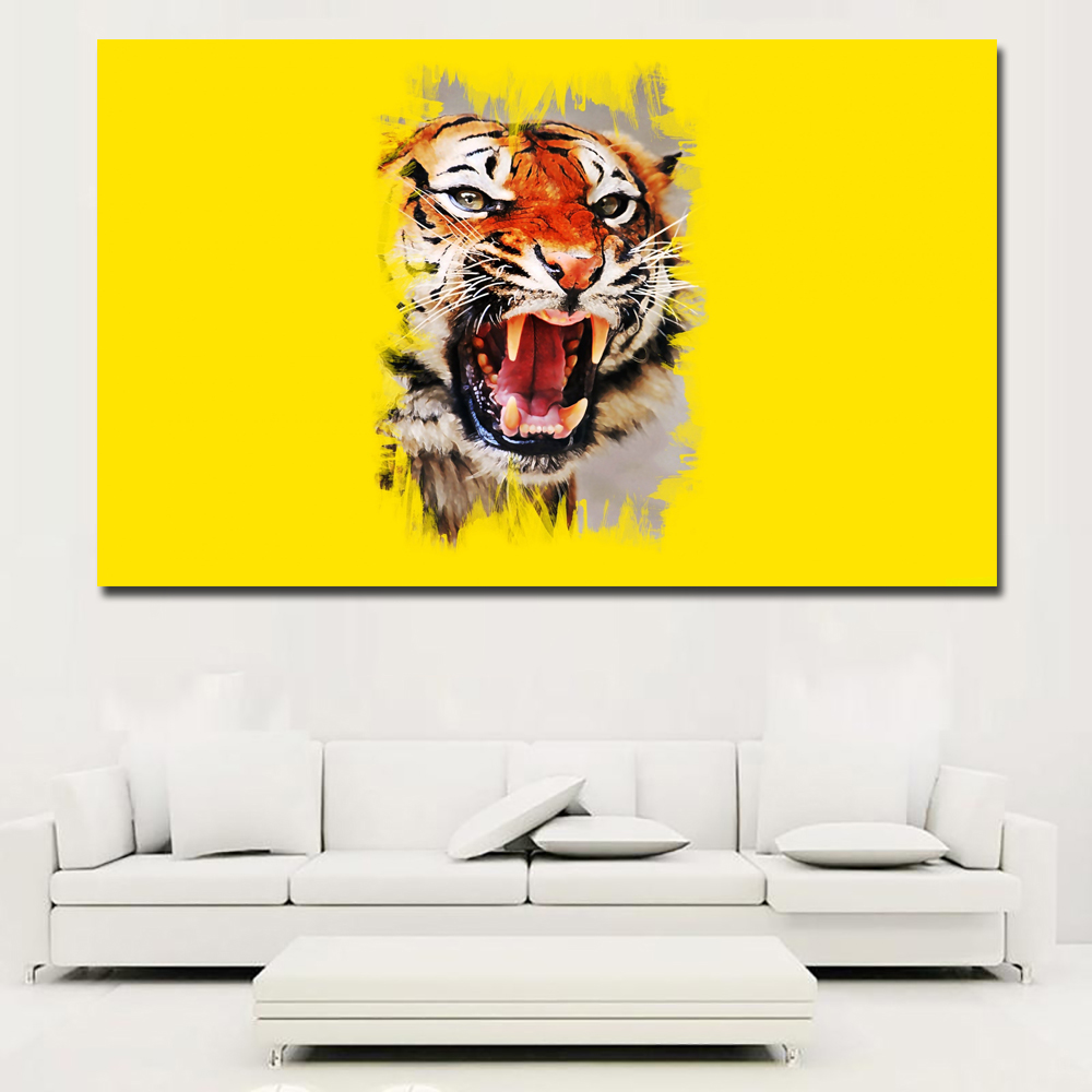 Fancy Tiger Wall Art Adornment - Wall Art Collections ...
