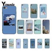 Yinuoda Синий Розовый эстетика песни лирика эстетический черный чехол для телефона для iPhone X XS MAX 6 6s 7 7plus 8 8Plus 5 5S SE XR