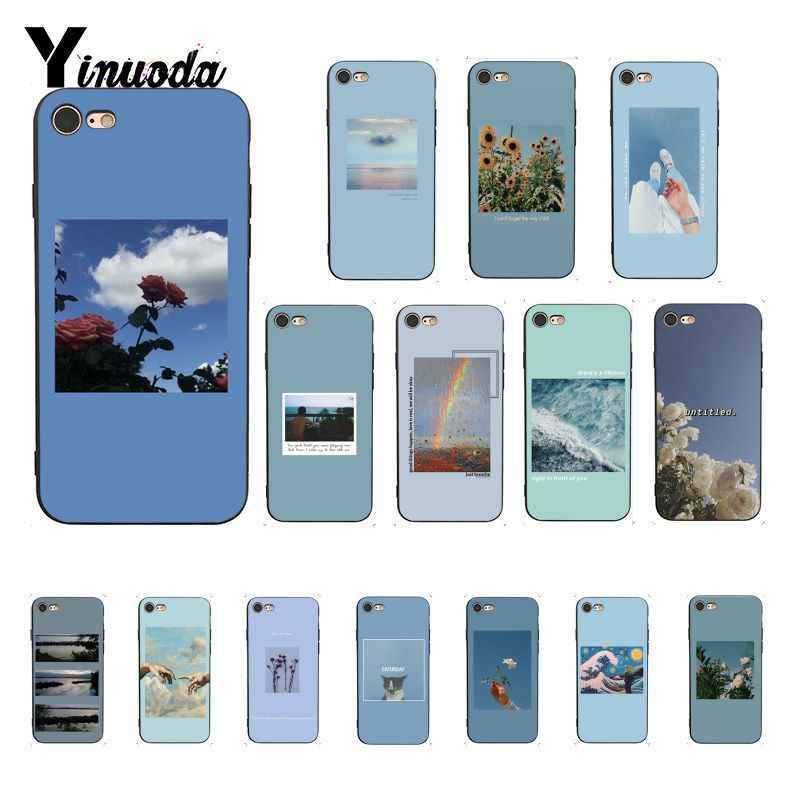 Yinuoda blue Pink Aesthetics songs lyrics Aesthetic   Black Phone Case for iPhone X XS MAX  6 6s 7 7plus 8 8Plus 5 5S SE XR