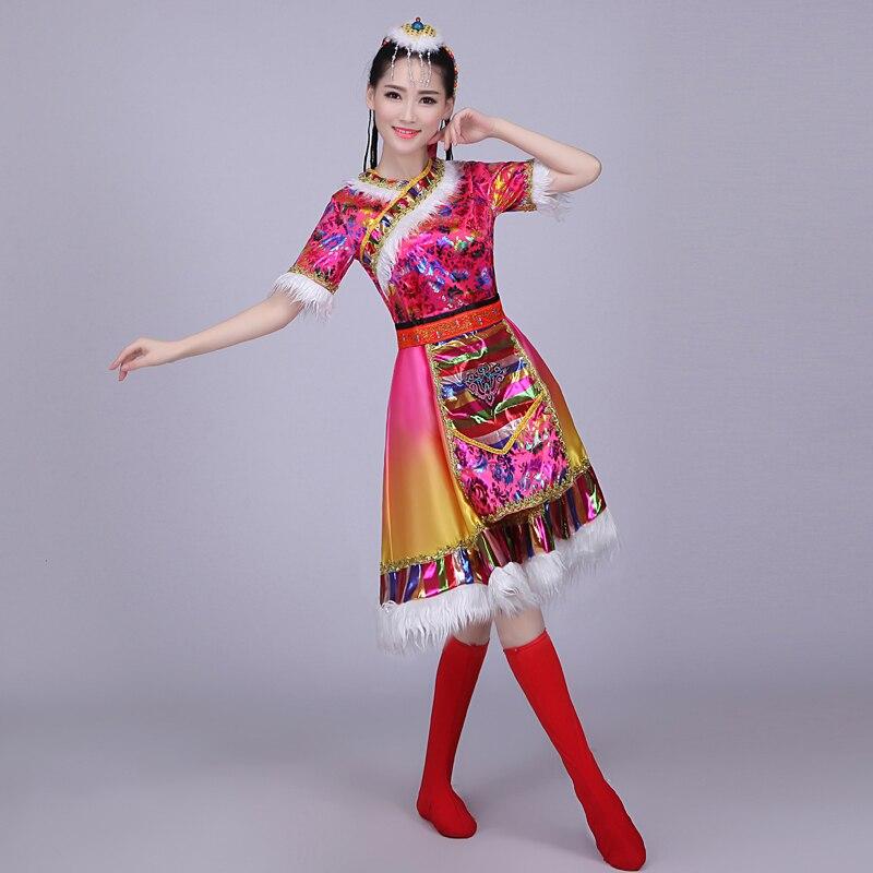 f697077e8c49 new Tibetan dance costumes children s adult Tibetan water sleeve ...