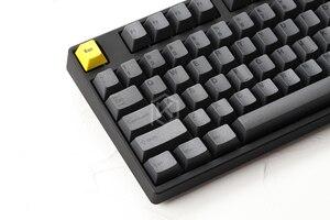 Image 2 - Kirsche profil Dye Sub Keycap Set dicken PBT kunststoff schwarz gelb gentleman für gh60 xd64 xd84 xd96 tada68 87 104 razer corsair