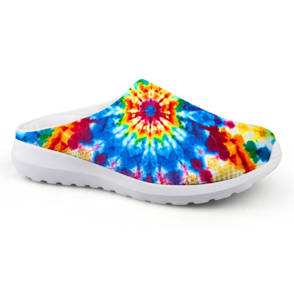 Noisydesigns Boys Mesh House Slippers Mixed Colors Paisley Print Men Beach Water Sandals Water Shoe Light Loafers Summer Slipper
