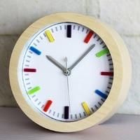 3D stereoscopic al fajr clock retro relogio de madeira reloj alarm home decor wood wooden watches saat table klok despertador