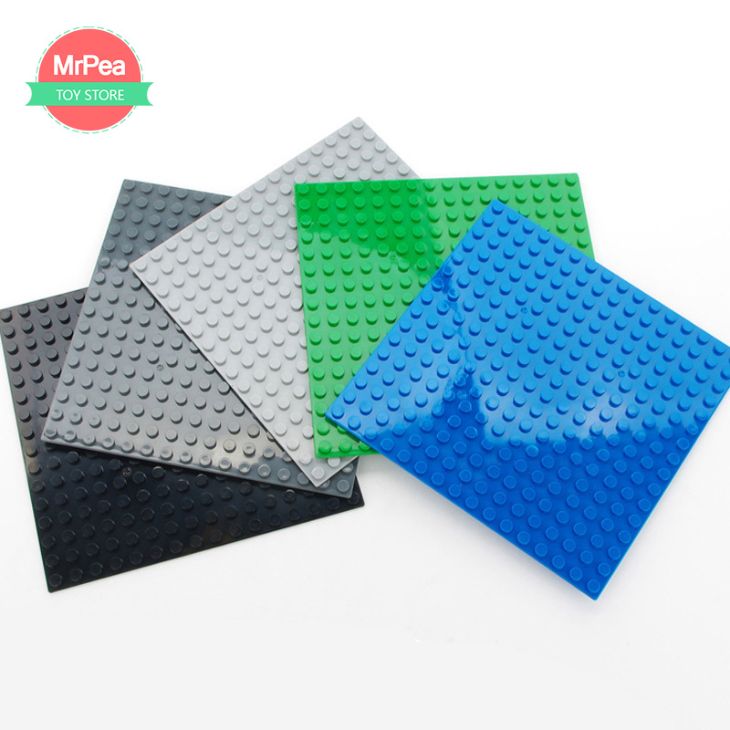 16*16 Dots Base Plate for Small Bricks Baseplate Board DIY Building Blocks Toys For Children Compatible with LegoINGLYS zk30 2017 brand new fashion big size 40 40cm blocks diy baseplate with 50 50 dots small bricks base plate green grey blue