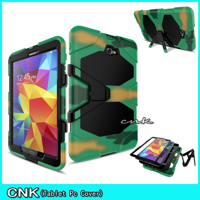 "For Samsung Galaxy TAB A 10.1"" T580 Case Droop resistant T580 Hard Plasctic Back Cover Tablet Laptop Bags Case With Kickstand"