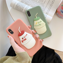Japanese Korean Style Juice Bottle Phone Cover Case For Iphone X Xs Max Xr 10 8 7 6 6s Plus Luxury Soft Silicone Coque Fundas