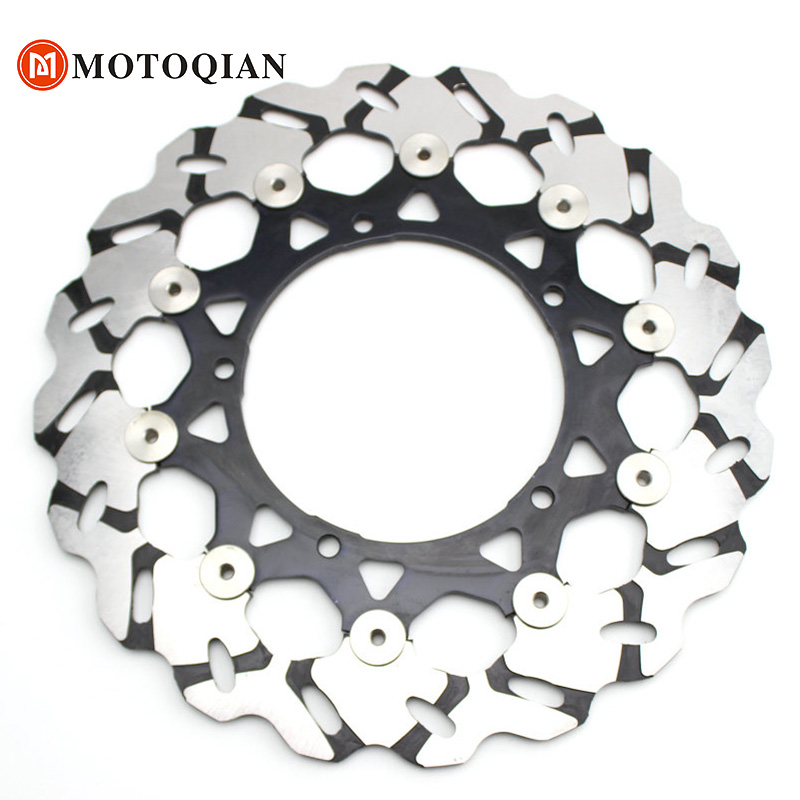 Moto Front Brake Disk Motorbike For Yamaha YZFR1 YZF R1 2013 2012 2011 2010 2009 2008 2007 Rotor Disc Motorcycle Accessories rear disc brake caliper set left with pads for yamaha utv rhino 700 2008 2009 2010 2011 2012 2013